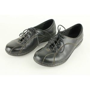Clarks Ashland Pearl Oxford Black Leather Lace Up